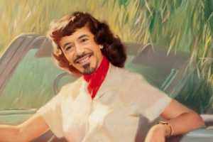 The Illustrated Robert Downey Jr. Pin-up Picture is Priceless