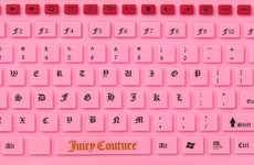 Pink PC Peripherals - Juicy Couture Pink Jelly Wireless Keyboard is for All Fashion Lovers