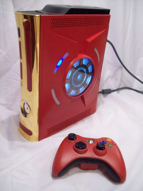 Superhero Game Systems - Tony Stark's Ironman Xbox 360 Console is One of a Kind