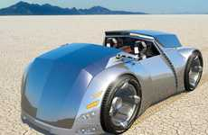 Futuristic Windowless Vehicles - Automotive Concept Is Very Different From Any Conventional Car