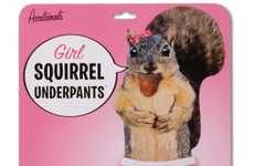 Cute Rodent Undies - The 'Girl Squirrel Underpants' Will Keep Everything Concealed