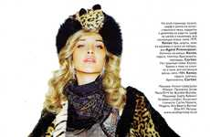 Royal Fashion Spreads - The Luxurious Ana Beatriz Barros in Vogue Russia