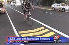 Video Game Roadways - Nerdtastic Mario Kart Bike Lanes in Portland, Oregon