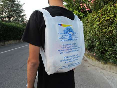 plastic bag backpack