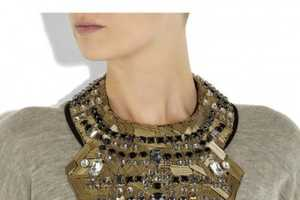 The Phillip Lim Crystal-Embellished Necklace is Bedazzled
