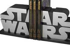 Iconic Book Stands - The Limited Edition Star Wars Logo Bookends Will Keep Your DVDs Safe