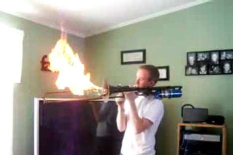 Flamethrower Trombone