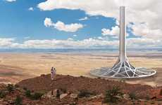 Tree Root Power Stations - The 'Solar Tower Concept' is Able to Power Half a Million Households