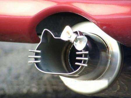 Hello Kitty Exhaust Pipe