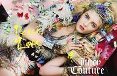 Floral Hippie Advertorials - The Juicy Couture Fall/Winter Campaign is Fearlessly Fun