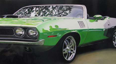 Hyper-Realistic Pimpmobiles - Artist Cheryl Kelley Paints Incredible Luxury Vehicles