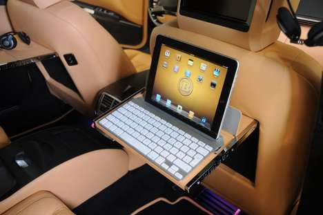 Convertible Corporate Cars - The Brabus iBusiness Mercedes Benz Converts into an Office Space