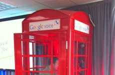 Internet-Powered Landlines - Google Voice Phone Booths Promote the Search Engine's New Feature
