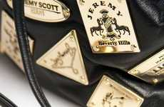 Scattered Logo Satchels - The Jeremy Scott Plaque Bag is Fierce