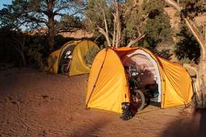The Nomad Motorcycle Tent Protects Both Rider and Ride