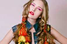 Tasseled Hairstyles - Pilar Castro Evensen Captures the Summer Vibe with Color and Attitude