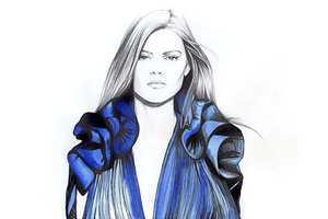 Caroline Andrieu Draws Eye-Popping and Detailed Clothing