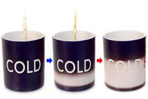 The Hot/Cold Mug Tells You the Temperature of Your Beverage