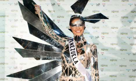 Beauty Pageant Fashion Statements - Miss Venezuela's Solar Suit is Lady Gaga's Style