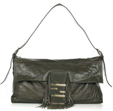Baguette Maxi Leather Bag