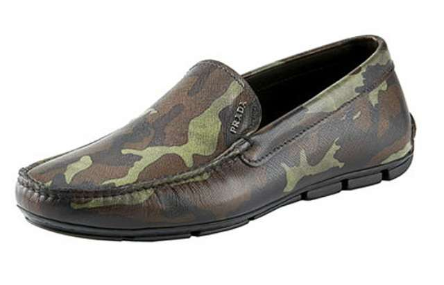 Camo Print Loafers