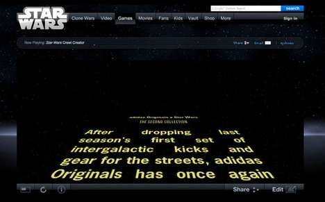 Star Wars Crawl Creator and adidas Originals Special Message