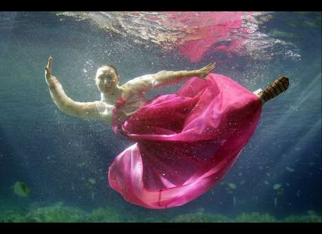 Underwater Fashion Show Dresses
