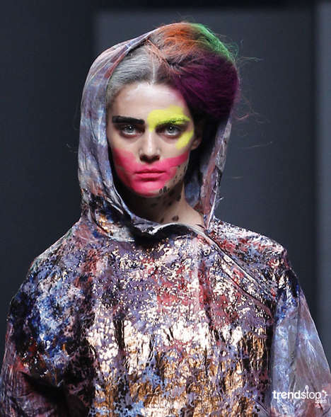 Neon Graffiti Styling - Alexis Reyna's Spring Summer 2011 Collection is Paint-Splattered