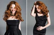 Black Satin Frocks - The Christina Hendricks Capitol File Spread is Effortlessly Elegant