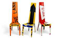 Street Sign Seating - Transit Chairs and Tables by Boris Bally Will Give You Some Direction