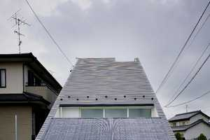 The Sloped Triangle House by Katsutoshi Sasaki & Associates