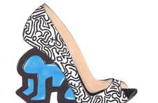 Crazy Cartooned Heels - The 'Keith Haring' Shoe Line by Nicholas Kirkwood is Popping With Color