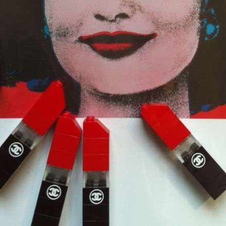 LEGO Lipstick - Dee & Ricky Channel Chanel in Their Latest Limited-Edition Brooch