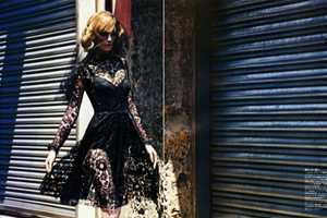 Mario Sorrenti Shoots Models in Black Lace for Vogue Nippon Magazine