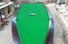 Peter McKee Creates an Incredible Speedboat Billiards Table