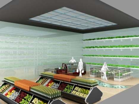 In-Store Gardens - The Agropolis Grocery Store Grows Produce On-Site