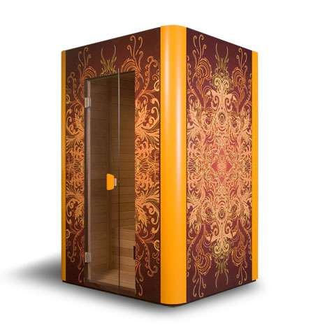 Luxury Custom Saunas - The Moods & Woods Steam Rooms Make the Affluent Home Even Hotter