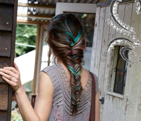 Tie-Dyed Hair Braids - The Free People September 2010 Catalogue is Hippie-Inspired