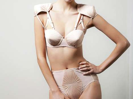 Shoulder Pad Bras - Gaultier and La Perla Team Up to Create Fabulously Undressed Garments
