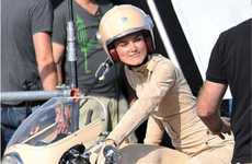 Couture Biker Babes - Keira Knightley Flaunts Chanel Fashion on a Motorcycle
