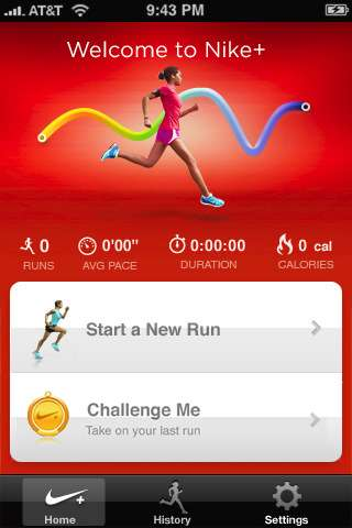 Mileage Tracking Apps - The Nike+ GPS App Tracks Challenges You to Run Farther and Longer