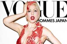 Meaty Celeb Bikinis - Lady Gaga Brings a Beefy Look to Vogue Japan Hommes September 2010 Issue
