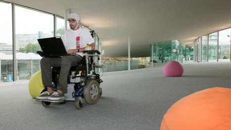 Brain-powered wheelchair by EPFL