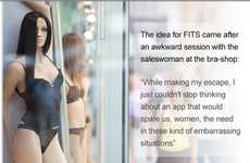 Anatomy-Assessing Apps - The 'Fits' App from Israel Measures Your Perfect Bra Size