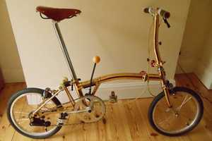 The Gold-Plated Brompton Bike is Ritzy and Retractable