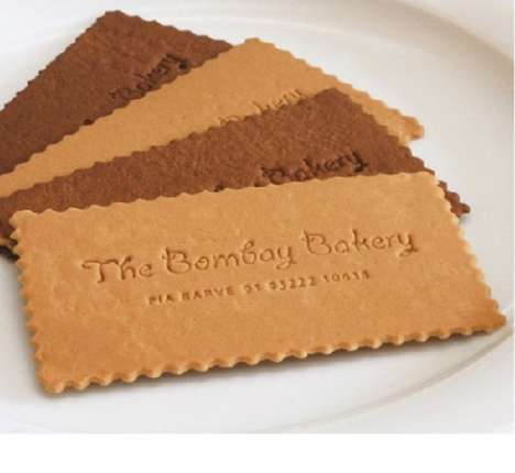 Baked Business Cards - Cookie Business Cards aren't Meant to be Dipped in Milk