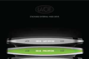 The Lacie S 2.0 Hard Drive Stacks and Stores