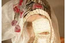 Gauzy Embroidered Veils - Scott Ramsay Kyle's 'In Mask' Collection is Eerily Serene