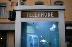 Public Phone Fish Tanks - The Aquarium Phone Booth Embodies an Exotic Escape in France