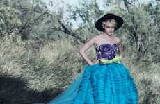 Barefoot Countryside Couture - The Carey Mulligan Vogue October 2010 Spread is Naturally Gorgeous